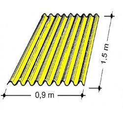Doska L 76/18   1,5x0,9 m žltá Typ100, hrúbka 0,75 mm