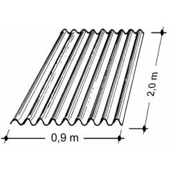 Doska L 76/18   2,0x0,9 m bezfar. Typ130, hrúbka 0,9 mm