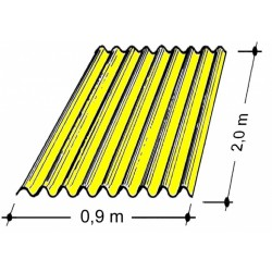 Doska L 76/18   2,0x0,9 m žltá Typ130, hrúbka 0,9 mm