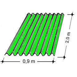 Doska L 76/18   2,0x0,9 m zelená Typ100, hrúbka 0,75 mm