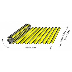 Rola L 76/18   1,0 x 20 m žltá Typ130, hrúbka 0,9 mm