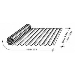Rola L 76/18   1,0 x 20 m bezfar. Typ100, hrúbka 0,75 mm