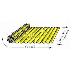 Rola L 76/18   2,0 x 20 m žltá Typ130, hrúbka 0,9 mm