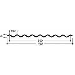 Doska L 100/30   bezfarebná, Typ150, hrúbka 0,88 mm